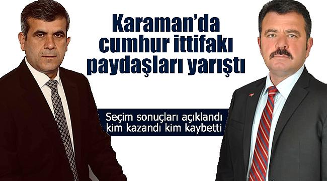 Karaman'da cumhur ittifakının paydaşları yarıştı