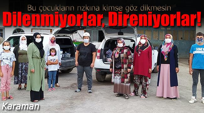 Karaman'da 6 gündür dilenmiyorlar direniyorlar
