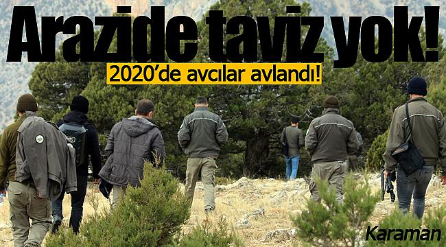 Karaman'da 2020'de kaçak avcılar avlandı