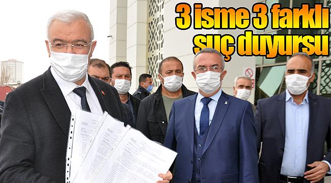 Karaman'da ak partiden 3 isme suç duyursu