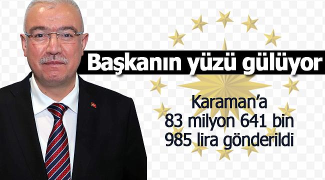 Abidin Çağlayan müjdeyi verdi Karaman'a 83 milyon lira destek