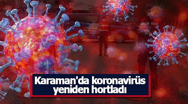 Karaman'da koronavirüs yeniden hortladı