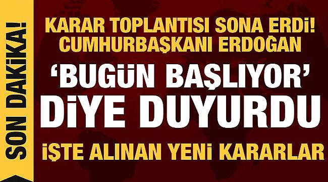 Cumhurbaşkanı Erdoğan açıkladı: Koronavirüsle mücadelede kontrollü normalleşme dönemi
