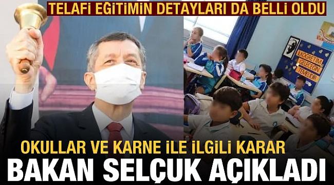 Bakan Selçuk, telafi eğitimin detaylarını açıkladı