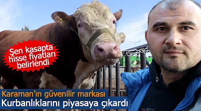 Karaman'da Şen Kasap kurbanlık hisse fiyatlarını belirledi