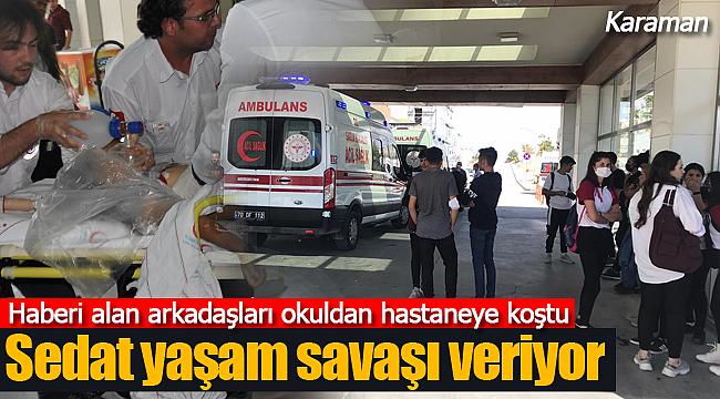 Haberi duyan öğrenciler hastaneye koştu