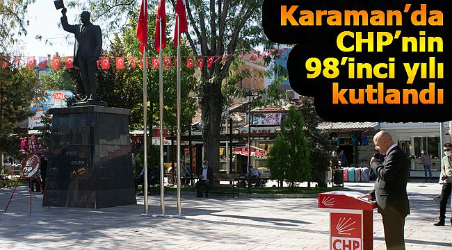 Karaman'da CHP'nin 98. yılı kutlandı