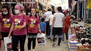 Karaman'da bayram öncesi hareketlilik başladı
